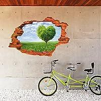 3D壁 ビニールの壁 ステッカー 自己接着性 取り外可能 [壊れ目] 壁画アートデカールデコレータ 8024Aおおきな木(60cm x 90cm)[並行輸入品]