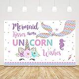Ticuenicoa 5x3ft Mermaid Kisses Unicorn...