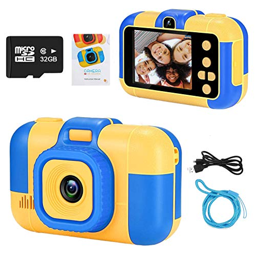 Kourtrico Kids Camera, Electronics Toy for 3-12 Year Old Kids Boys Girls - 1080P HD 2.4 Inch Screen Video Recorder, Digital Camcorder with 32GB SD Card Included… (Blue)