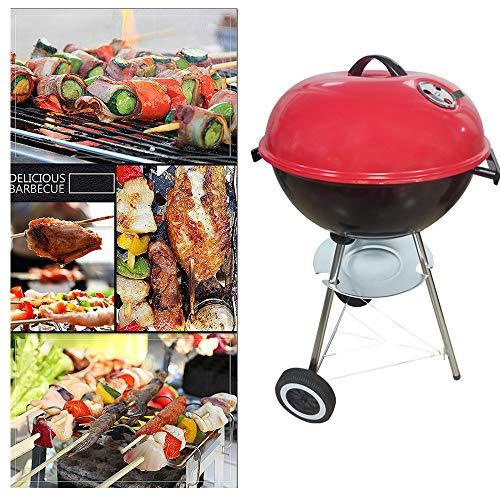 51MYbKAFePL - YWZQ Charcoal BBQ Grill Pit, Outdoor-Camping-Kocher Garten Grill Werkzeuge Grillzubehör Kochen Werkzeuge Küchen