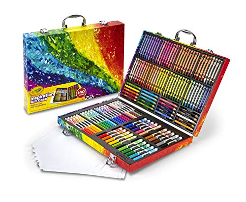 Crayola Inspiration Art Case Coloring Set, Kids Indoor Activities At Home, 140 Art Supplies, Multicolor