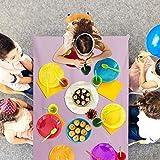 PartyWoo Tischdecke Rosa, 137 x 274 cm/ 54 x 108 Zoll Rechteckige Tischdecke Abwaschbar für 6 bis 8 Fuß Tisch, Tischtuch, Table Cloth, Wasserdichte Tischdecke für Party, Geburtstag, Hochzeit (1 STÜCK) - 5