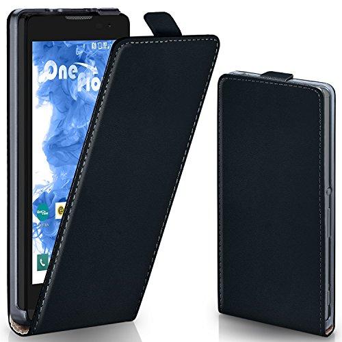 MoEx® Flipcase passend für LG Leon | Klapphülle Handytasche mit Rundum Schutz - Handy Hülle Klappbar Flip Case, Schwarz
