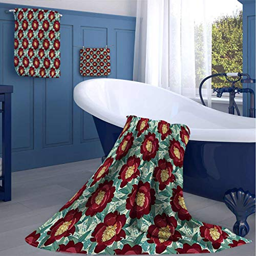 HOMEDECORATIONS Floral Kitchen Cleaning Towels Flourishing Poppies Absorb Well washcloths Gifts for Best Friend
