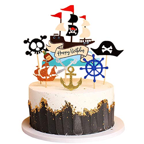 Pirate Ship Theme Cake Topper