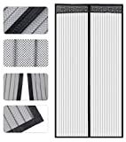 Store2508® Polyester Mesh Mosquito Screen Curtain with Magnets for Main Doors/Balcony Doors/Kitchen Doors (110 * 210 Cms,Black) velcro rollers Nov, 2020