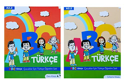 Turkish for kids ABC Course Book Set for Children with Workbook A2.2