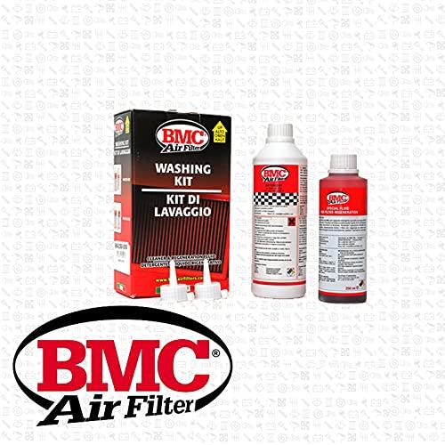 BMC Kit de nettoyage pour filtres à Air Sport pour voiture / moto - Détergent 500 ml + Huile 250 ml WA250-500