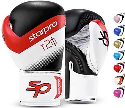 Starpro T20 Guantes de Boxeo de Cuero de PU...