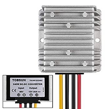 Golf CART Voltage Reducer Converter 48V to 12V 20A 240W DC Voltage Regulator for Club Car