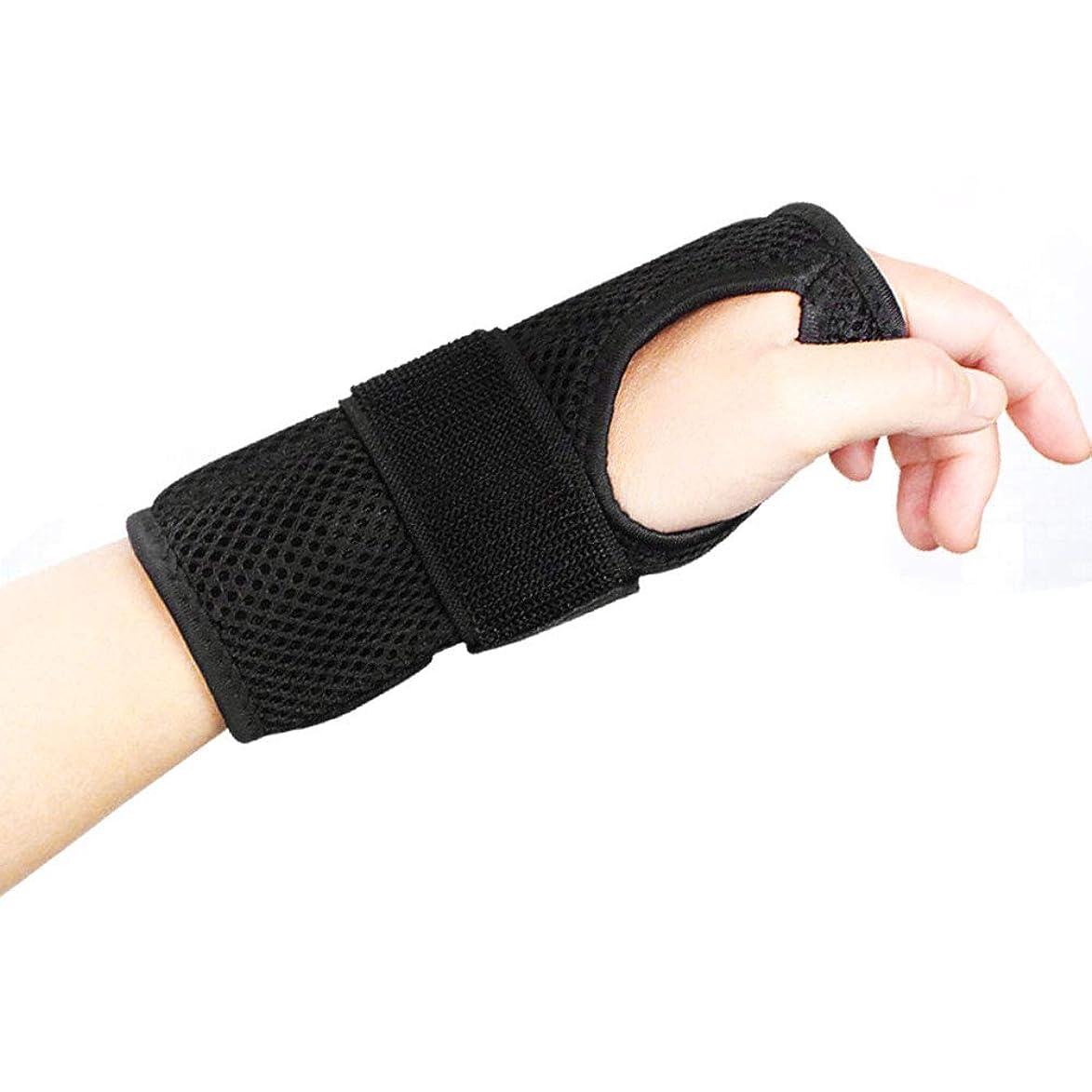 発行あまりにも溝手首サポートブレーススプリントは、怪我、スポーツ、ジム、繰り返しの緊張などのために医学的に承認された調整可能な弾性ブレースです デザイン,Righthand,M