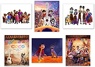 Coco (2017) 8x10 Poster Prints - Set of 6 Pixar Mexican Dia de Muertos Decor Wall Art Photos Miguel Hector Dante