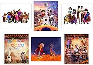 Coco (2017) 8x10 Poster Prints - Set of 6 Pixar Mexican Dia de Muertos Decor Wall Art Photos Miguel Hector Dante