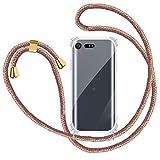Funda Colgante con Cuerda para Colgar Sony Xperia X Compact - Carcasa Transparente de TPU Suave...