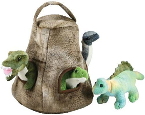 Cuddle Zoo, Dinosaur House with 4   Dinos by CuddleZoo