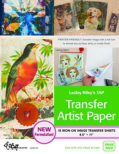 Lesley Riley s Tap, Transfer Artist Paper: 18 Iron-on Image Transfer Sheets 8.5 X 11-