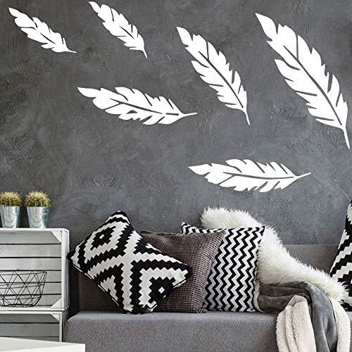 Quszpm Etiqueta engomada de la Pared de la Pluma Vinilo decoración del hogar decoración de la habitación de los niños Vinilo calcomanía 57 cm x 87 cm