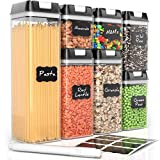 Airtight Food Storage Containers by Simply Gourmet. 7-Piece Kitchen Storage Containers BPA Free + 16 Labels & Marker. Airtight Storage Containers Storage Set for pantry organization canisters