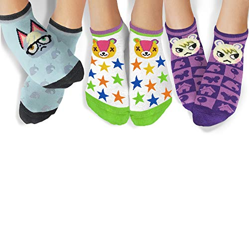 Controller Gear Animal Crossing: New Horizons Raymond, Marshall, Stitches Ankle Socks - 3 Pack - Official Nintendo Merchandise - Not Machine Specific