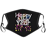 PJQQ 1 Stück Kinder 2021 Neujahr bedruckbares waschbares verstellbares Kissen, staubdicht, wiederverwendbar, waschbar, bequemes, atmungsaktives Tuch, Winddicht, staubdicht, Anti-Smog, Außenmaske