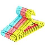 Perchas de Plástico,Perchas resistentes antideslizante,Perchas De Plástico Con Ganchos,Para pantalones, faldas, bufandas y corbatas,15pcs(Color al azar)