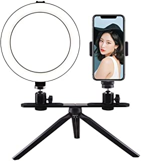 Ring Light 20CM Desktop//Floor Stand Ring Light USB Power Supply 3 Light Mode Fill Light Anchor Selfie Beauty Light Ringlight Size : A