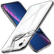 Whew Hülle Kompatibel iPhone XR, ultradünner weich Schutzhülle, Qualität Anti-Shock, Anti-Fingerabdruck, Anti-Kratzer Handyhülle Anti-Vergilbung Silikon TPU Case für iPhone XR (Transparent)