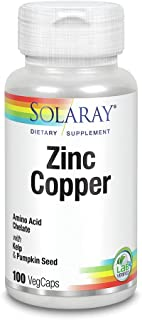 Zinc with Copper Solaray 100 VegCaps