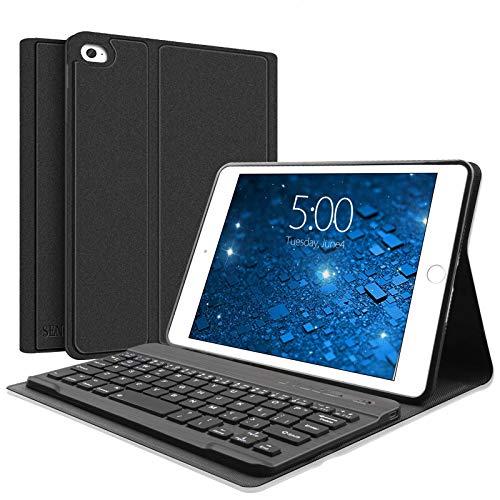 SENGBIRCH Keyboard Case for iPad Mini 5/4/3/2/1 - Detachable Keyboard - Magnetic Design - Keyboard for iPad Mini- Soft Rubber Case - iPad Mini 4 Case with Keyboard (Black, Mini)