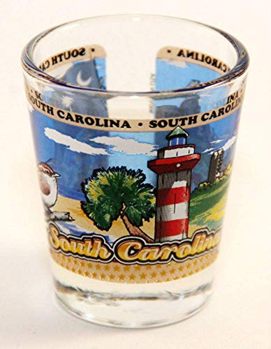 South Carolina State Wraparound Shot Glass