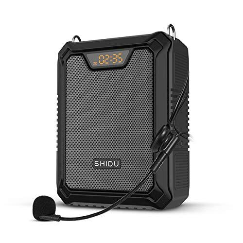 Amplificador de voz de alta potencia 25W | 4400mAh Batería grande Altavoz y micrófono Auriculares Sistema portátil Pa con Bluetoot | Grabación | AUX para profesores M900