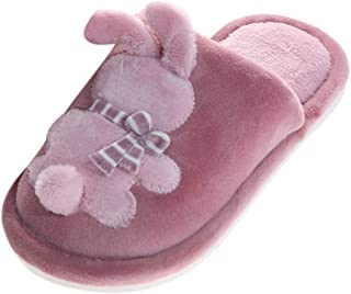 certainPL House Slippers for Big Kids, Children Girls Boys Plush Lined Indoor House Slipper Bunny Warm Winter Home Slippers for 7-12 Years Old