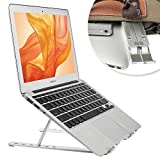 Desire2 Laptop Stand, Ergonomoic Ventilated Riser, Portable 6 Level Adjustable Stand for up to 15.6' Laptops and Notebooks - Aluminium