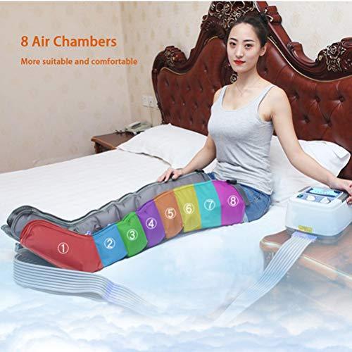 8 Cavity Massagegerät Beine Fußmassagegerät Elektrisch, Massage-Gerät für Füße Beine, Arme, Taille und Füße zur Lymphdrainage Linderung Krampfadern & Wadenschmerzen,Hsot and 2Legs