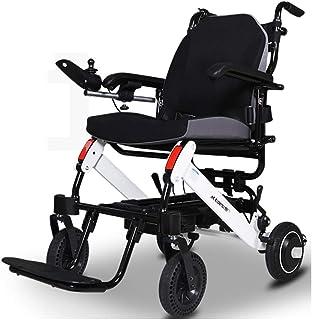 silla de ruedas eléctrica Plegable Ligera, Motor Doble sin escobillas, Silla compacta con Joystick, Mano Suelta = Freno