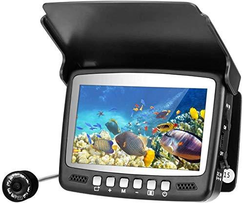 Kacsoo Fotocamera subacquea da 4,3 pollici, 960P HD 1000TVL, telecamera da pesca impermeabile portatile con indicatore di profondità di 49 piedi per pesca in mare e in barca