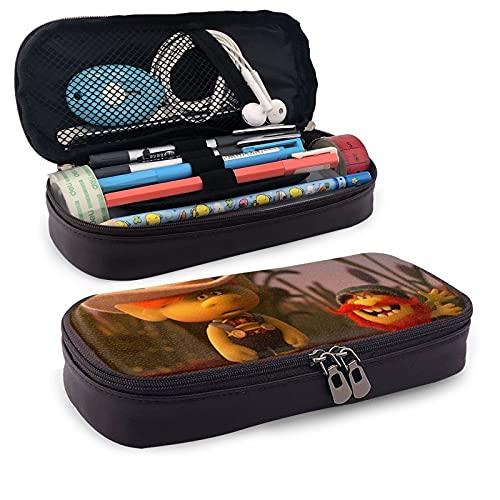 TRO-Lls - Estuche para lápices de gran capacidad con cremalleras dobles para bolígrafos, papelería, bolsa de maquillaje