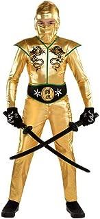 Boys Gold Fighter Ninja Costume - X-Large (14-16) | 2 Ct.