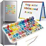 Zaaqio 6 en 1 Numeros Madera Magnéticos de Madera para Niños Juguete Educativo Magnéticos para 3 4 5 Años Niñas Niños-Cumpleaños