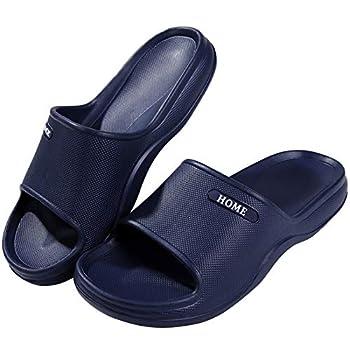 Pillow Slides Sandals for Women Men Lightweight Squishy Shower Shoes Navy