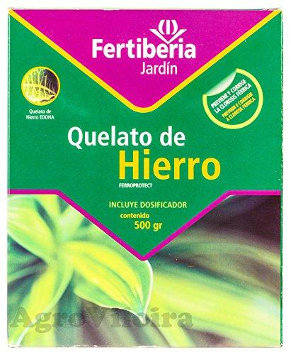 Fertiberia Quelato de Hierro_FerroProtect 500 gr. Microgránulos, Rojo Oscuro