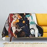 RJin92 ¡¡Hai-kyuu !! Manta de Franela Impresa en 3D, Suave y cálida, Mantas...
