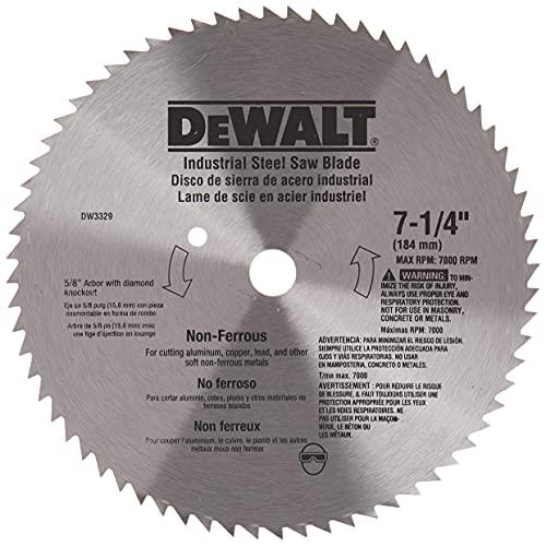 DEWALT 7-1/4' Circular Saw Blade, Metal Cutting, 5/8-Inch and Diamond...