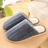 ypyrhh Mujer Hombre Invierno Cálido Pantuflas,Non-Slip Thick-Soled Cotton Slippers, Warm Fur Slippers-Clear Dust_44/45