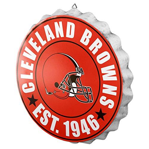 Cleveland Browns NFL Bottle Cap Wall Sign