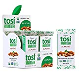 Tosi Organic SuperBites Vegan Snacks, 2.4oz (Pack of 12), Gluten Free, Omega 3s, Plant Protein Bars with Flax and Chia Seeds (Almond)