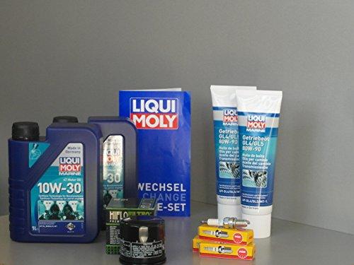 MotorFunSports Wartungsset Mercury F 30 EFI Service Ölwechsel Öl Zündkerze Ölfilter Getriebeöl