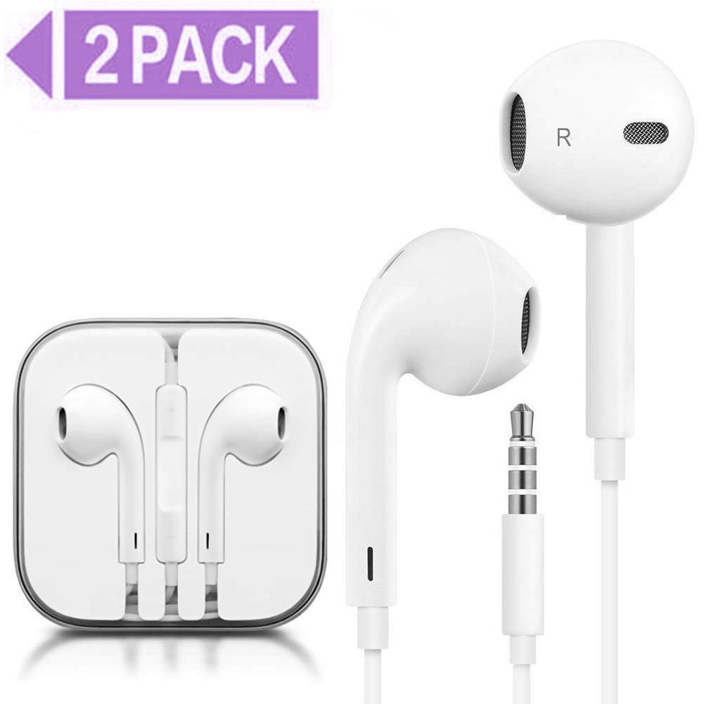 Buyfitcase Earphones Earbuds Headphones Stereo Mic Remote Control Compatible With Iphone 6s 6 Plus 6 5s Se 5c Ipad Ipod White 2pack 12 Buy Online In Cambodia Missing Category Value Products In Cambodia See Prices Reviews And Free