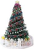 kaige La Fibra óptica árbol de Navidad pre-Encendido de Navidad Ttree con la Vela de Proa, Verde (Color: Verde, Tamaño: 9.8 pies (300CM)) WKY (Color : Green, Size : 7.8Ft(240CM))