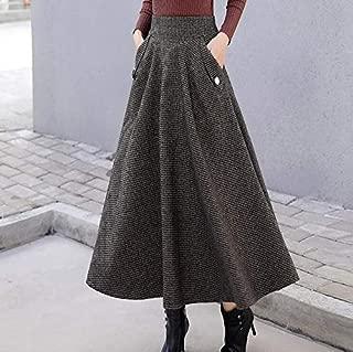 NVDKHXG Falda Plisada Impresa de Verano de Las Mujeres Marea Grande ni/ña Marea Larga de Dibujos Animados de impresi/ón de Cintura Alta /órgano Adelgazante Falda Plisada